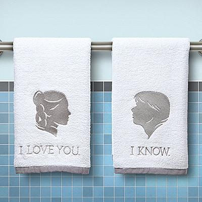 Star Wars Han and Leia Bathroom Hand Towel