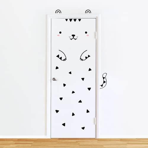 Tofu the Tiger Door decal