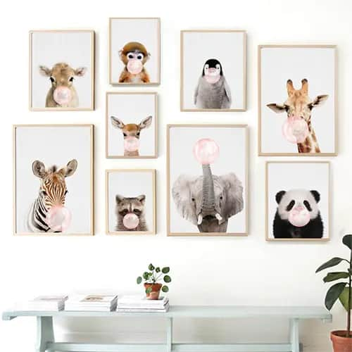 5D Diy Diamond Embroidery Animal Poster