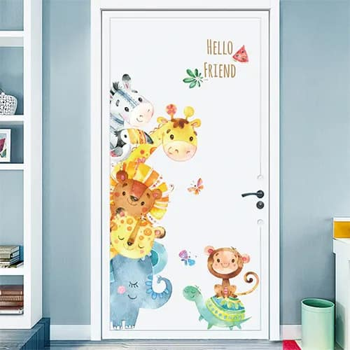 Cartoon Animal Vynil Stickers For Kids