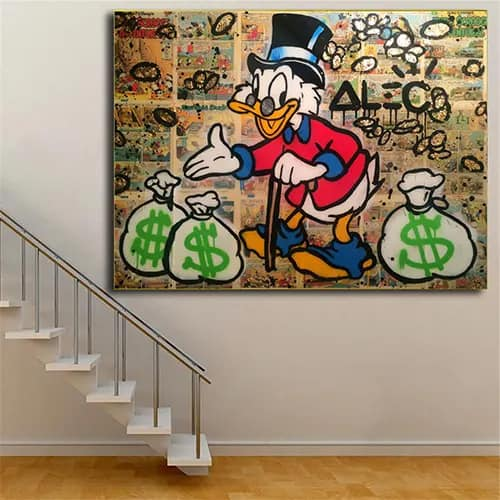 Cartoon Monopoly Wall Painting