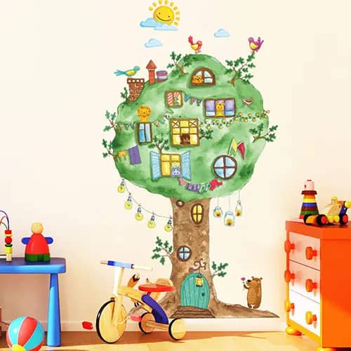 Cartoon Tree Wall Sticker