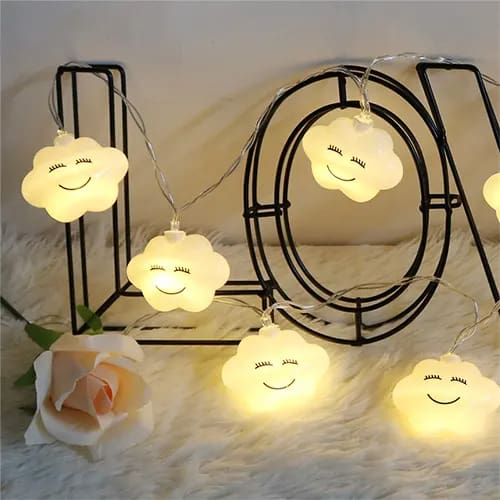 Clouds With Faces Decorative Lights - Cute Things To Put In Your Room