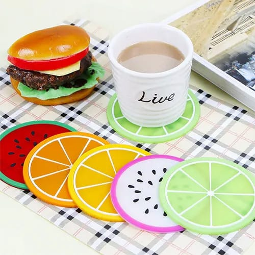 Colorful Slicked Fruit Coasters
