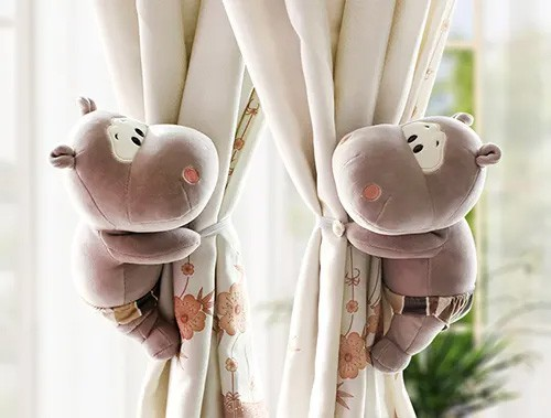 Cute Hippo Curtain Tieback