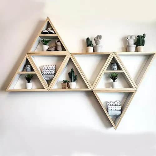 Handmade Triangle Storage Rack