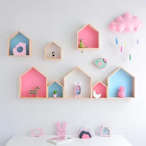 House Shaped Wall Shelf