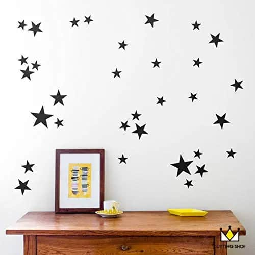 Little Black Stars To Decorate Your Walls