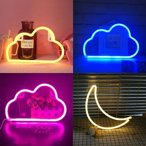 Neon Cloud Sign