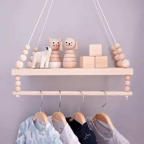 Nordic Style Double Deck Rack - Bedroom Accessories