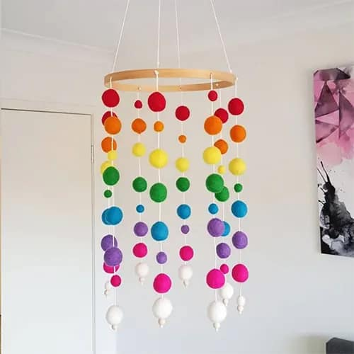 Plush Ball Wind Chimes