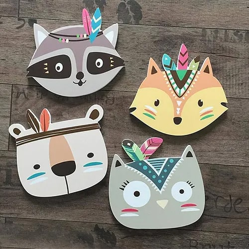 Wooden Fox/Cat Wall Decor - Best Things To Have In Your Room